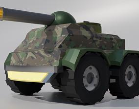 Tank Low Poly 3D asset