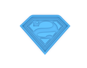 Superman logo cookie cutter 3D printable model