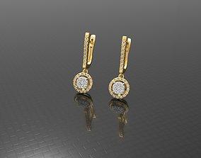 Luxury wedding earring 3D printable model