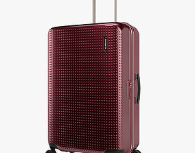 3D Samsonite Pixelon Suitcase 69cm red