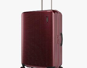 3D Samsonite Pixelon Suitcase 69cm red