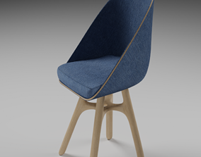 low poly chair desk for AR 3D asset