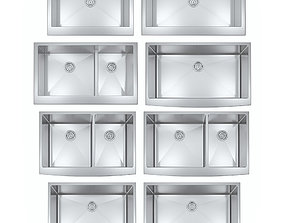 Steel farmhouse sinks 3D