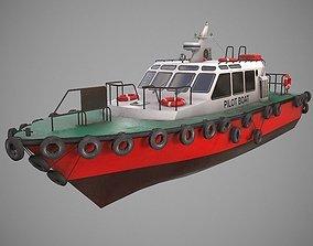 3D asset Pilot Boat