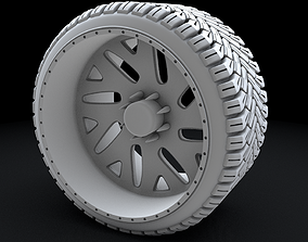 3d Truck Low Profile Tire and Wheel 3D Printable