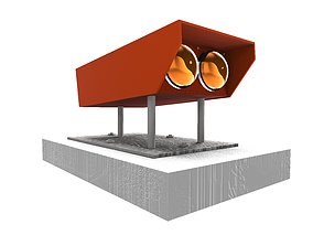 Precision Approach Path Indicator Lighting 3D
