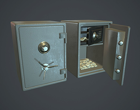 3D model Metal Safe v1 PBR Game ready