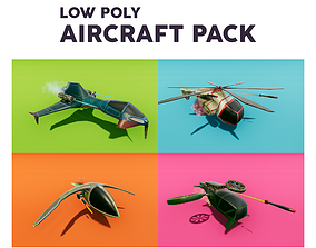 Low Poly Aircraft Pack 3D model