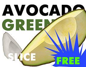 3D model AVOCADO GREEN SLICE