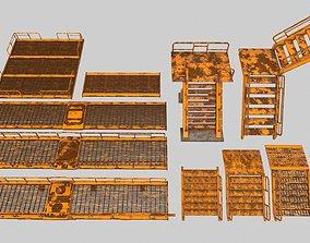 3D asset Stairs set 1