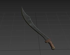 scimitar 3D asset Semi-Realistic Scimitar Sword