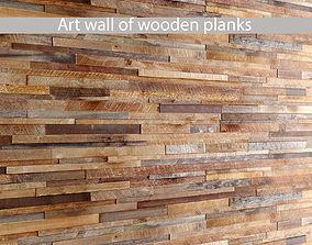 Mosaic wood panel planks 2 3D model