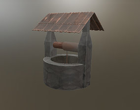 Abandoned Stone Well 3D model
