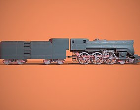 3D asset animated Steam Train