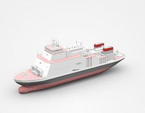 Realistic Big Freight Ship 3D model