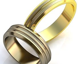 diamond-ring gold-rings Gold Metal Rings 3D print model