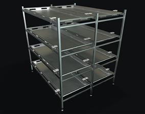 3D model Mortuary Racks