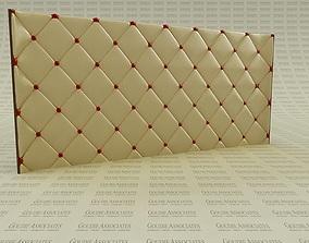 3D model Modern Leather Tufted Bed Backboard