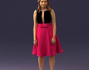 Woman in crimson skirt 0483 3D Print Ready