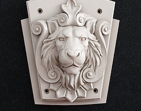 Lion head wall decor 3D printable model