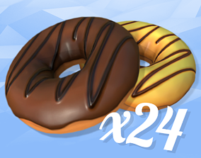 3D model Cartoon Donuts Collection 24x