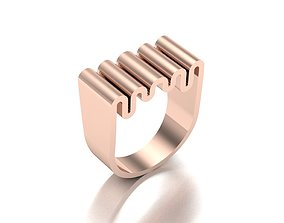 angela hubel style special ring model 3dmodeljewel