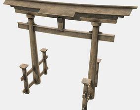 Low Poly PBR Torii Gate 3D model