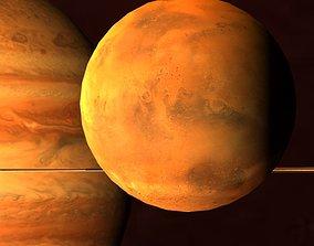 Solar System Scifi LowPoly 3D asset