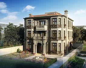 Old style mansion 034 3D model