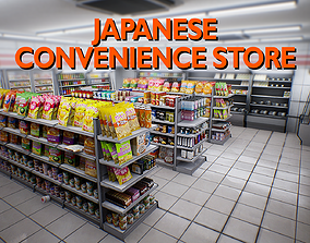 Japanese Convenience Store Pack - Over 400 3D model 1