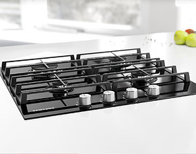 Black gas stove 3D model