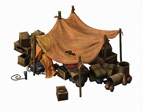 3D model Death Desert - Tent Top 05