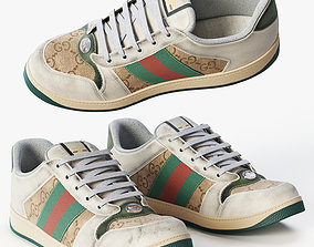 leather Leather Sneakers Screener 3D