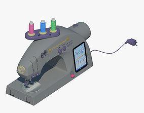 Sewing machine Wheeler end Wilson 3D model