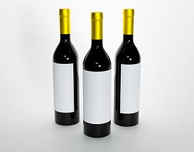 Wine Bottle 3D liquor