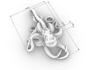 octapus pendant 3d model 3D print model
