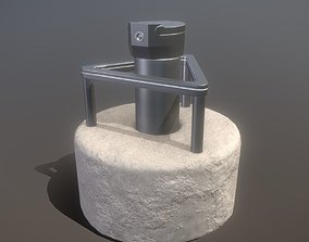 3D model Groundwater Measure Pipe Low-Poly Version