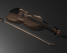 musical Stradivarius Violin 3D