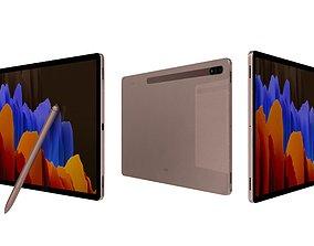 3D model Samsung Galaxy Tab S7 Plus Mystic Bronze