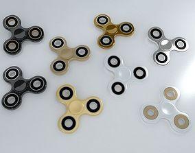 8 Spinner Fidget Widget - Pack 03 3D model