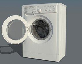 game-ready Indesit IWSC 51052 Washing mashine 3D model