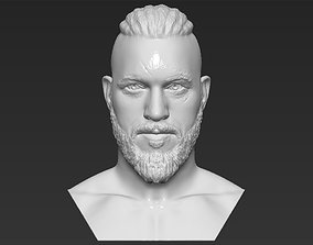 Ragnar Lothbrook Vikings bust 3D printing ready stl obj