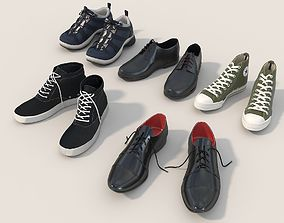 3D model Men Shoes Collection Set