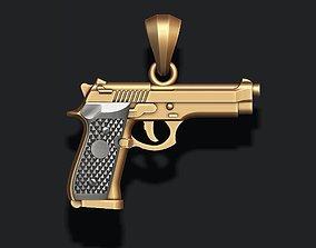 3D printable model Gun pendant