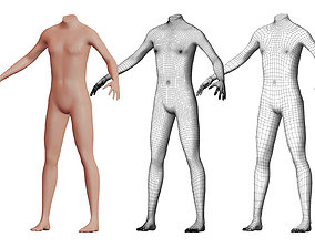 Character 24 High and Low-poly - Body male 3D model
