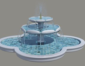 Water Fountain 3D model architectural