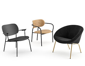Lounge chairs collection gubi 3D model
