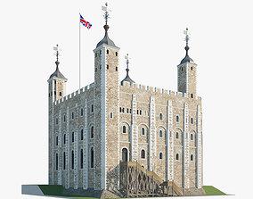 Tower of London castle 3D model