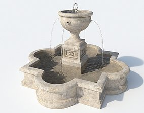 Fountain white 3D model