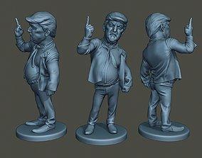 Donald Trump Finger Up 3D printable model